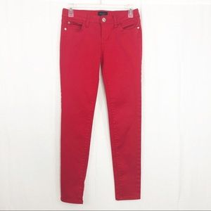 Celebrity Pink Tango Red Skinny Jeans, Size 25